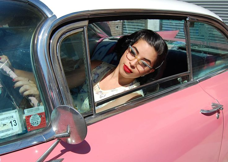 17 Best Images About Girls In Retro Cars On Pinterest