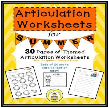 Each sheet provides space for 10 therapist derived  words making data easy to record  3 Worksheets for each of the 9 themes. Holidays include Father's Day, Summer, 4th of July/ Independence Day, Zoo, Camping, Playground, Picnic, Vacation, Ocean/Beach  These coordinate with the  other products by Mrs H Speech Therapy Room!