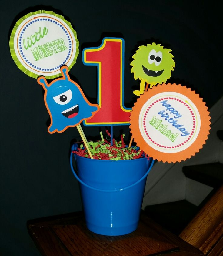Little monster handmade centerpiece
