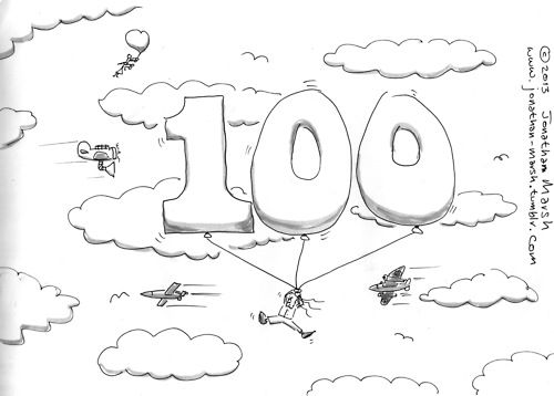 My 100th DoodleBlog post. This is my one hundredth post