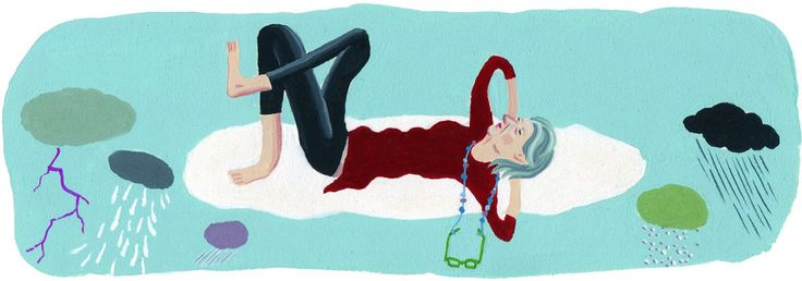 Only when you hit 60 can you put yesterday's worries behind you, the writer discovers.