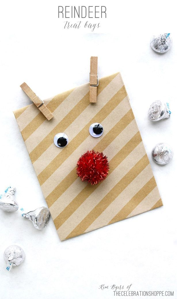 Reindeer Treat Bags | Kim Byers, TheCelebrationShoppe.com