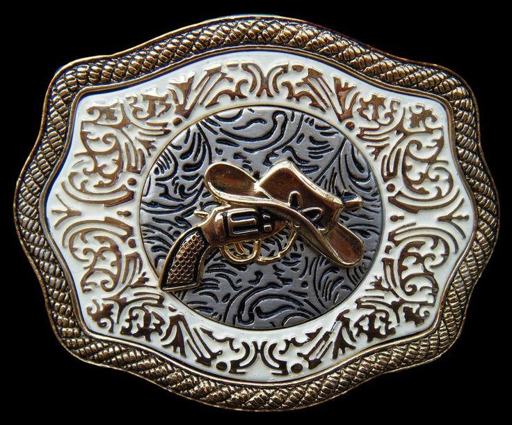 Western Belt Buckle Rodeo Show Cowgirls Cowboys Belts Buckle #western #guns #westernbuckle #cowboy #cowgirl #beltbuckle