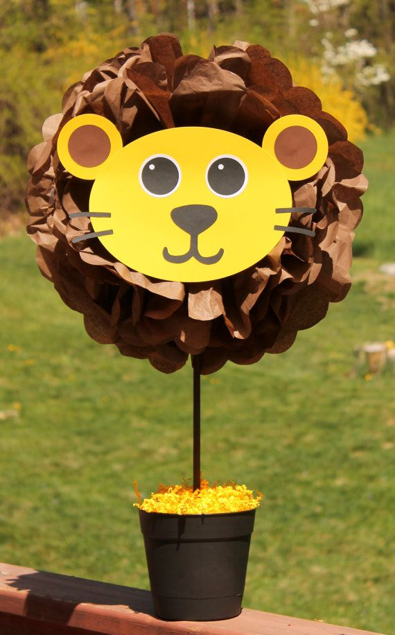 Lion pom pom centerpiece kit