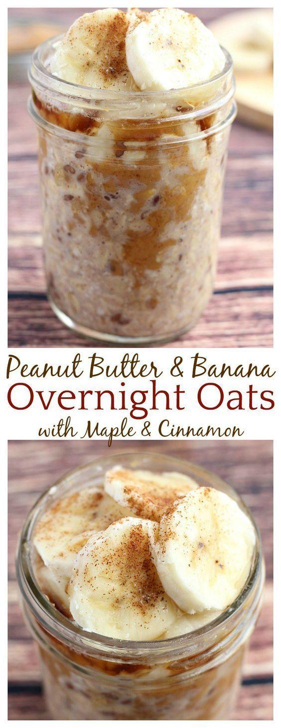 Peanut butter and banana overnight oats | breakfast