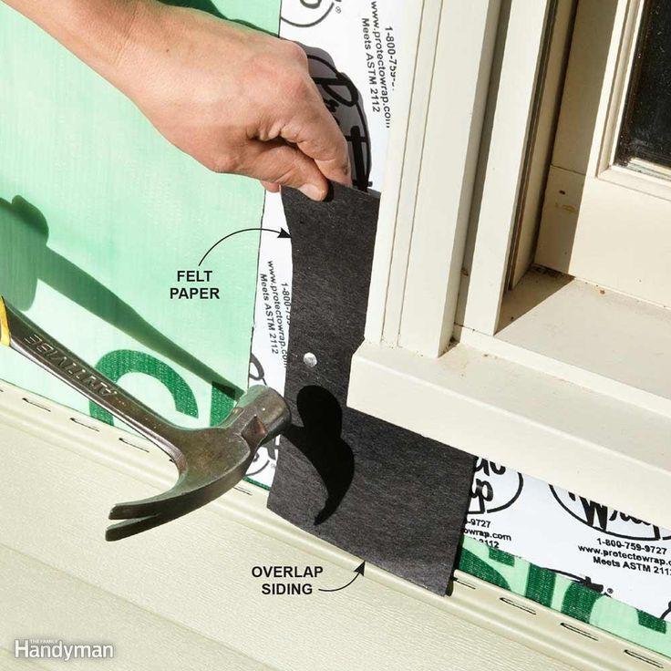 how to cut vinyl siding corners