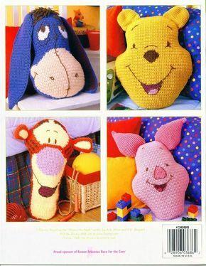 Delicadezas en crochet Gabriela: Esquema para almohadas de tejer como Winnie the Pooh y todos-todos-todos