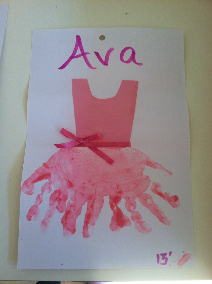 Superb Handprint Ballerina Tutu Candices Lil Artists Pinterest Funny Birthday Cards Online Ioscodamsfinfo