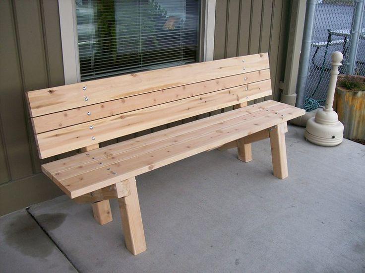 Best 25+ Wooden garden benches ideas on Pinterest | Wooden ...