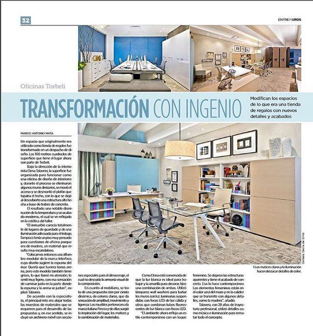 Empezamos con fuerza esta semana y les compartimos la nota sobre nuestra oficina que publicó Entremuros! #diseño #design #interiors #interiores #diariodeunadiseñadora
