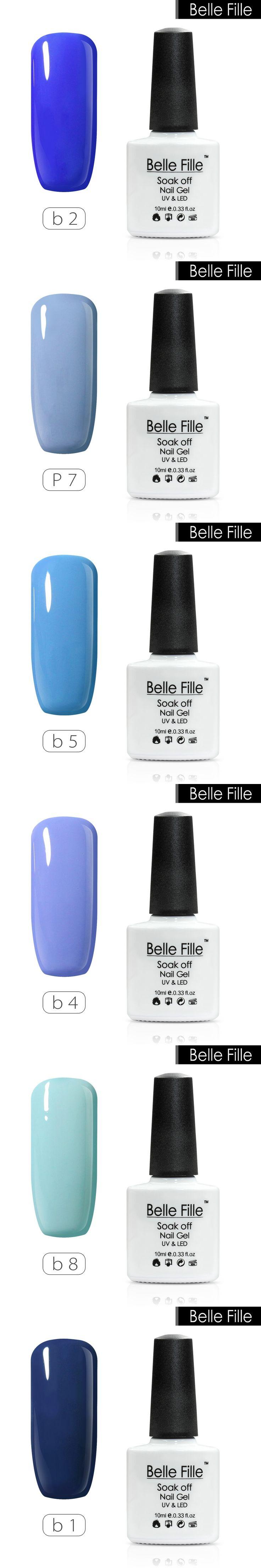 10ml Natural Blue color UV nail gel manicure lacquer home DIY nail art Soak Off varnish polish Long-lasting Bling Nail Gel