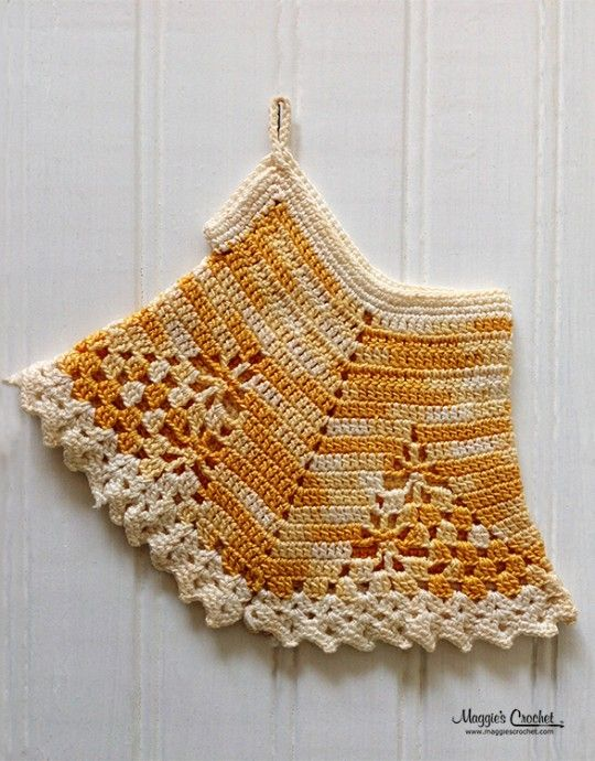 Crochet Patterns Vintage Potholders : crocheted vintage potholder kitchen crochet bloomer potholder crochet ...