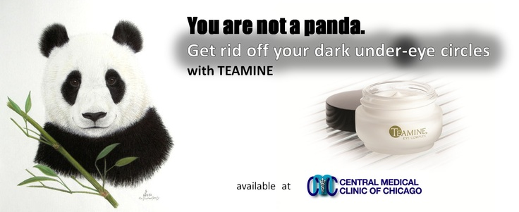 Remove the stubborn under eye dark circles with TEAMINE cream available at Central Medical Clinic of Chicago - www.CentMed.com and 773 545 2525