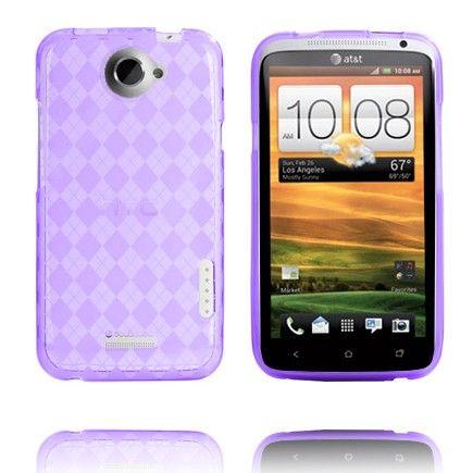 Tuxedo (Läpikuultava Violetti) HTC One X Skydd