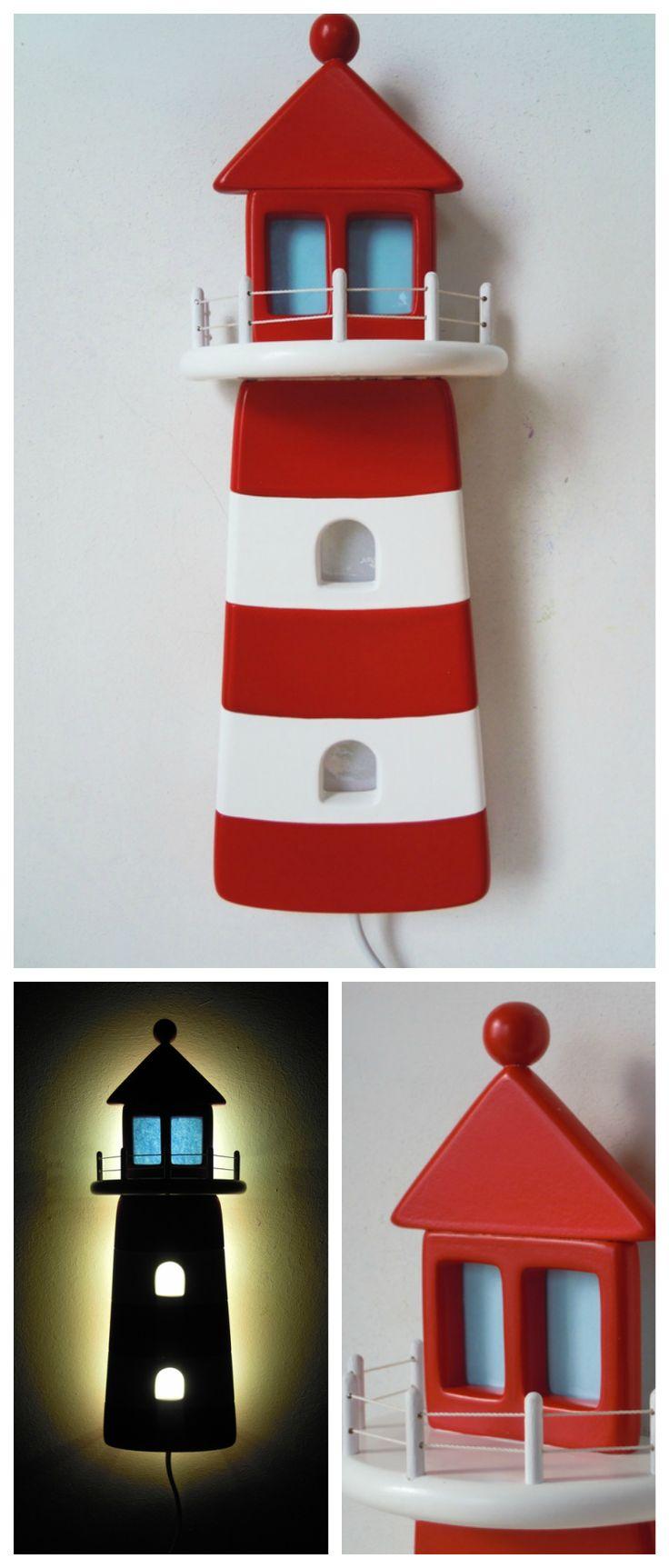 Cottage lighthouse lamp 3 colors - Schlummerleuchte Im Leuchtturm Design Lighthouse Lampteenagernight