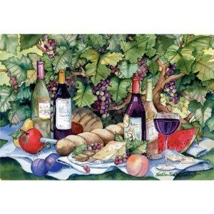 "9.5"" x 12.5"" Vineyard Picnic Design Cutting Board by Magic Slice. $14.32. MSC008 Features: -Cutting board.-Flexible.-Non-slip safety.-Not intended for use under hot items.-Great for condominium and apartment size kitchens.-Great for everyday use, camping, picnics, boating and RV's.-Easy to store.-Thin and lightweight.-Used for chopping, slicing and dicing all types of food.-Simply roll up the cutting board and funnel chopped food into pan or bowl.-Protects counter ..."