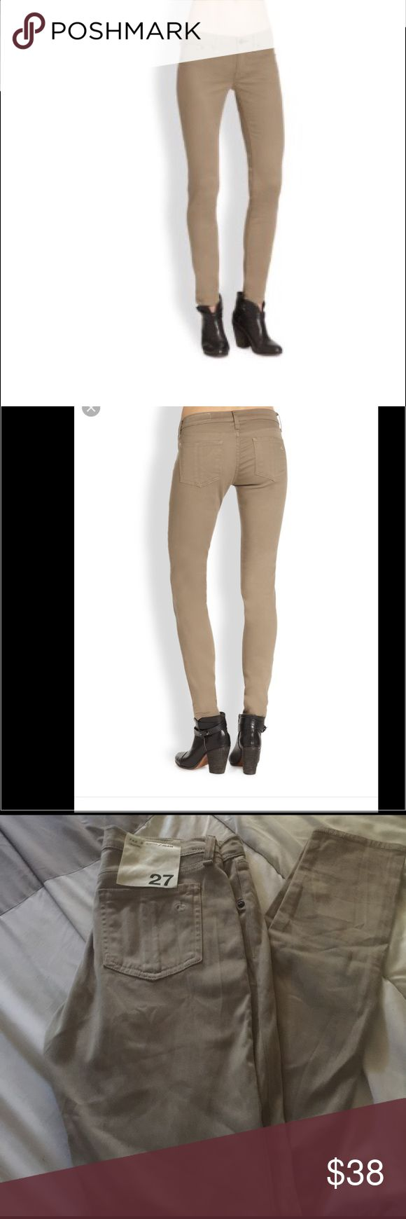 Rag & Bone desert khaki leggings size 27 Sorry no trades or modeling. Super soft and stretchy. Please let me know if you have any questions. Thanks for looking. Have a nice Day. rag & bone Pants Leggings