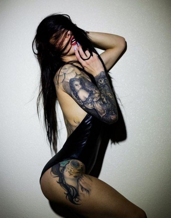 beautiful, girl, sexy, Tattoos, wow