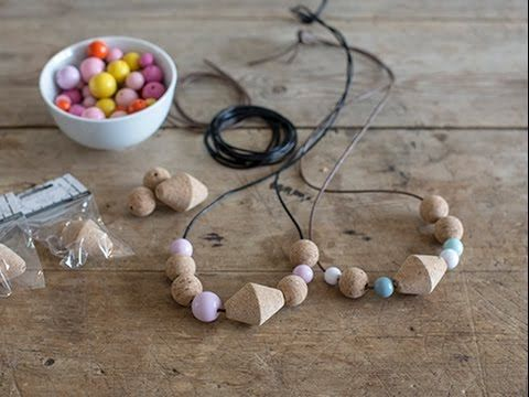 Create a personal necklace with cork beads