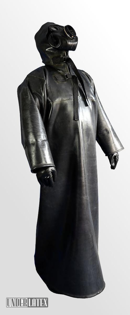 Heavy Rubber long raincoat 1,2mm