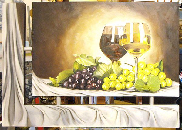 Pintura a óleo realizada pela Teresa Vidal no nosso atelier!