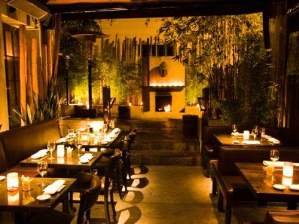 Koi restaurant los angeles interior design bar