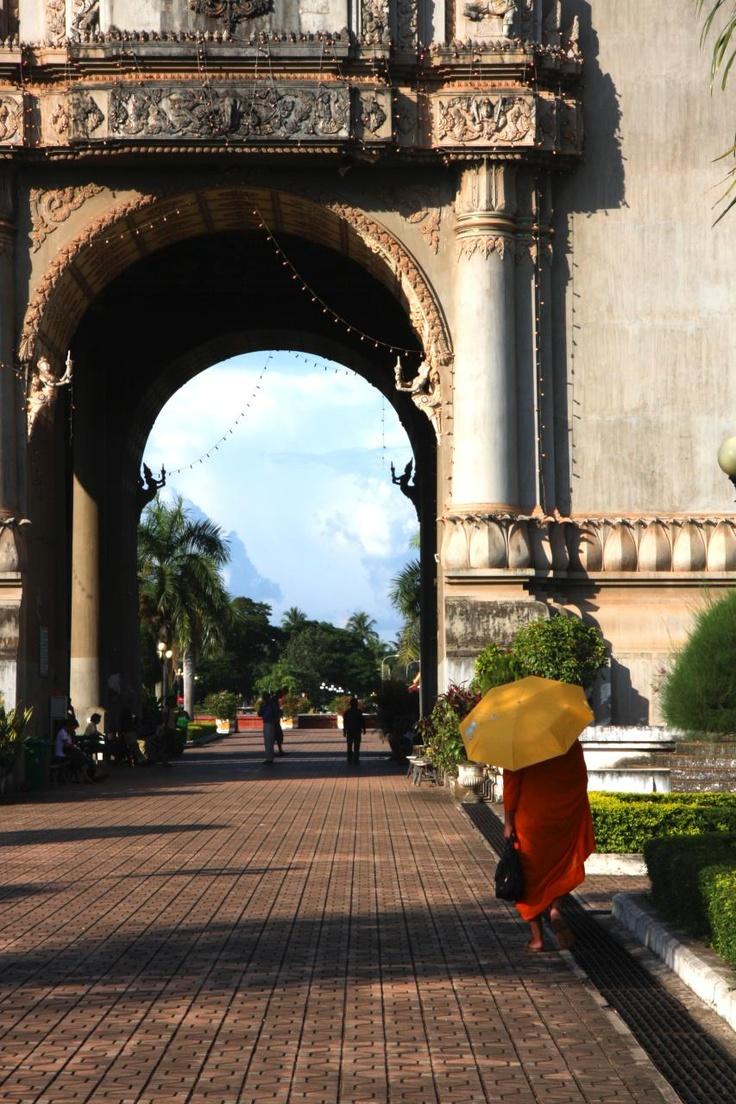 Archway, Patuxay, Laos