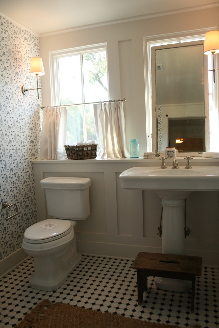 Love The Floor Tile, The Bard And Batten Wall, The Ledge Behind The Sink · Southern  Living ...