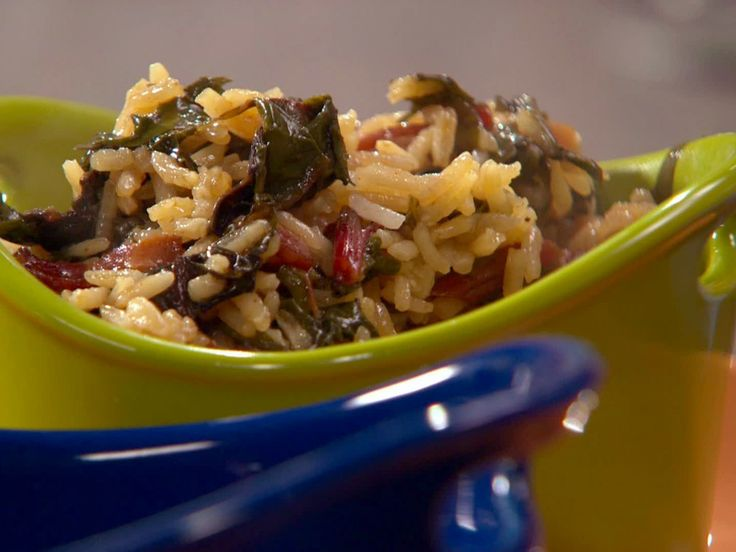 Red Chard and Rice recipe from Rachael Ray via Food Network