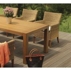 MBM Manati Gartentisch 160 cm mit Aluminium Untergestell & Resysta Tischplatte