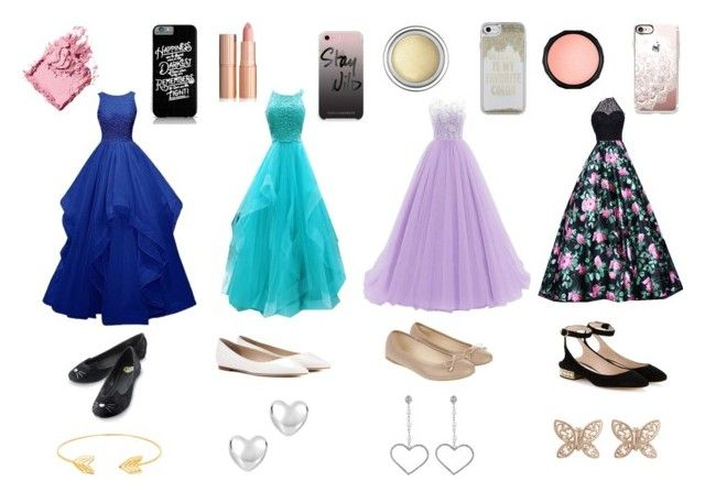 """""""Prom Dresses"""" by kw82 on Polyvore featuring Accessorize, Jimmy Choo, Nicholas Kirkwood, Lord & Taylor, Candela, Rebecca Minkoff, Casetify, Kate Spade, Bobbi Brown Cosmetics and Christian Dior"""