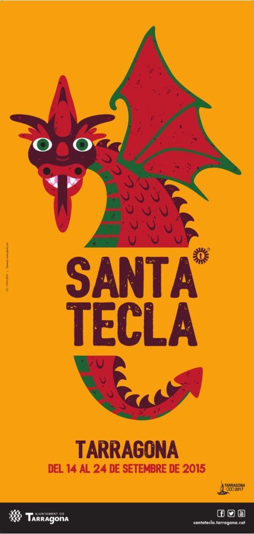 Cartell de les festes majors grans de la ciutat, Santa Tecla 2015. Disseny: Itziar Solla