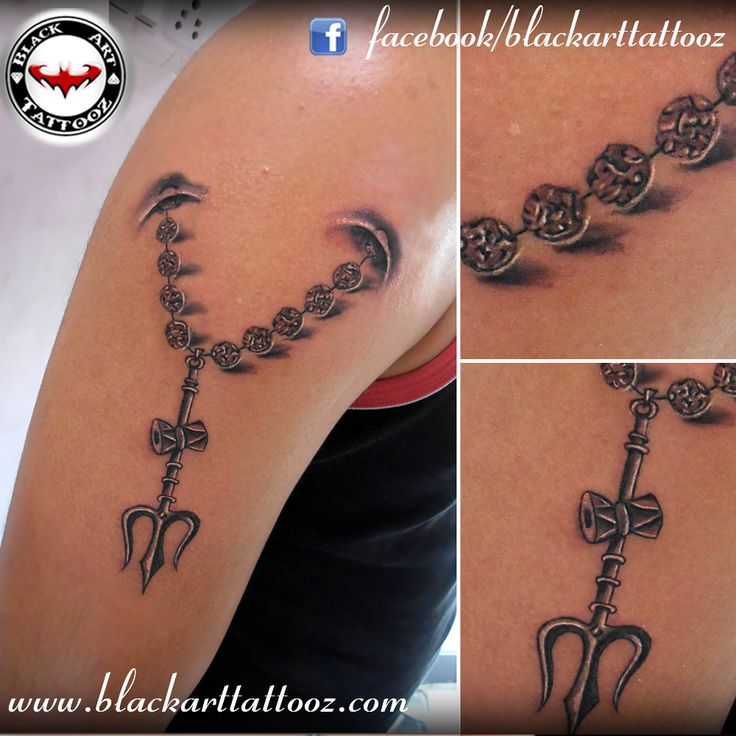 Pictures of 3d Trishul Tattoo - #rock-cafe