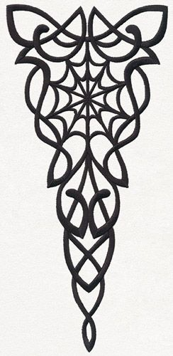 Gothic Nouveau - Wedge | Urban Threads: Unique and Awesome Embroidery Designs