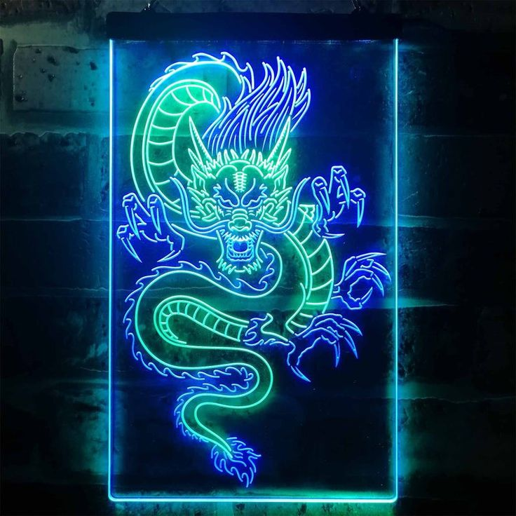 neon sign dragon led signs chinese dual display st6 wayupgifts dragones fondo imagenes aesthetic pantalla clear 3d toptanbeybi