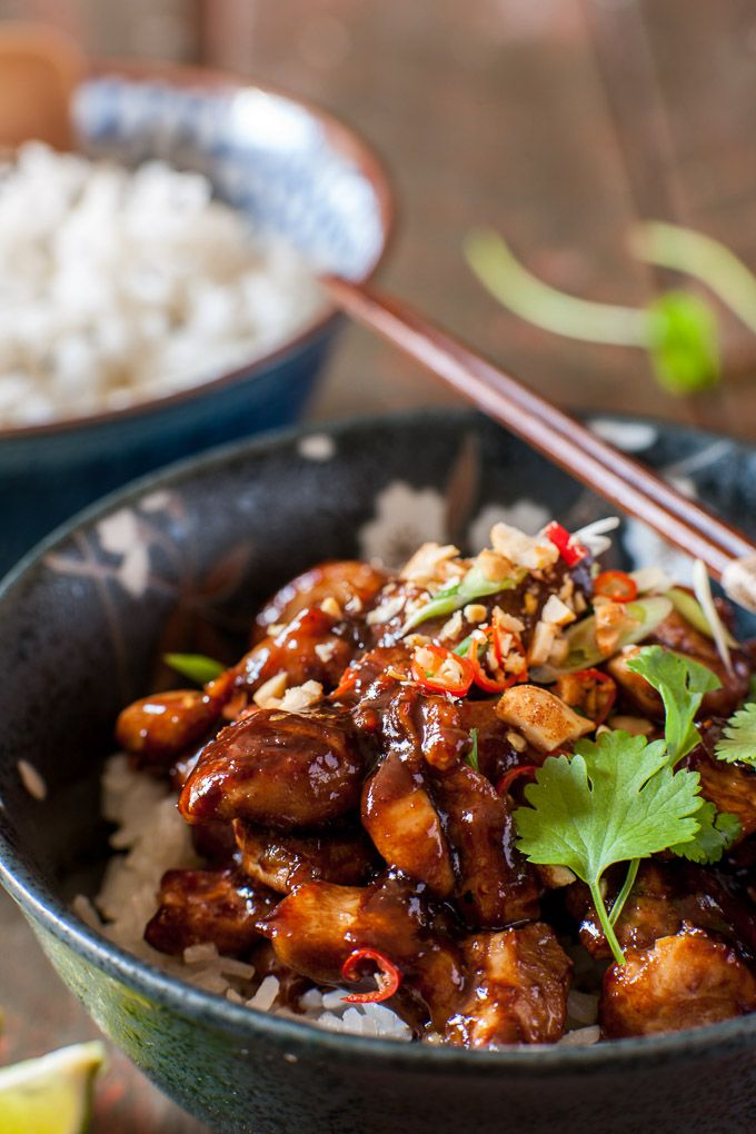 Kung Pao Chicken. This will make you dump your delivery boy and make your own from now on. www.milk-honey.co.uk