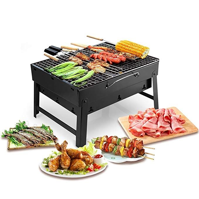 Outdoor Portable Mini Camping Picnic Foldable Barbecue Grill BBQ Cook Rack Tool