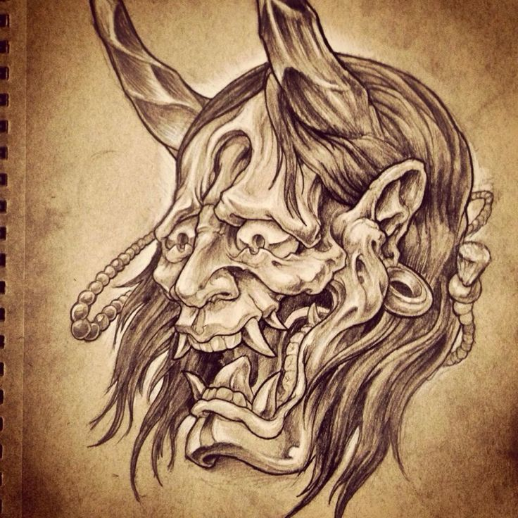 17 best ideas about oni mask tattoo on pinterest hannya