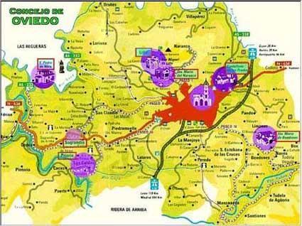 Mapa del concejo de Oviedo