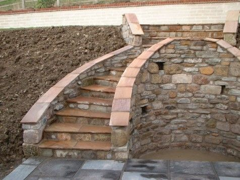 7 best custom patio ideas images on pinterest patio for Steep driveway construction