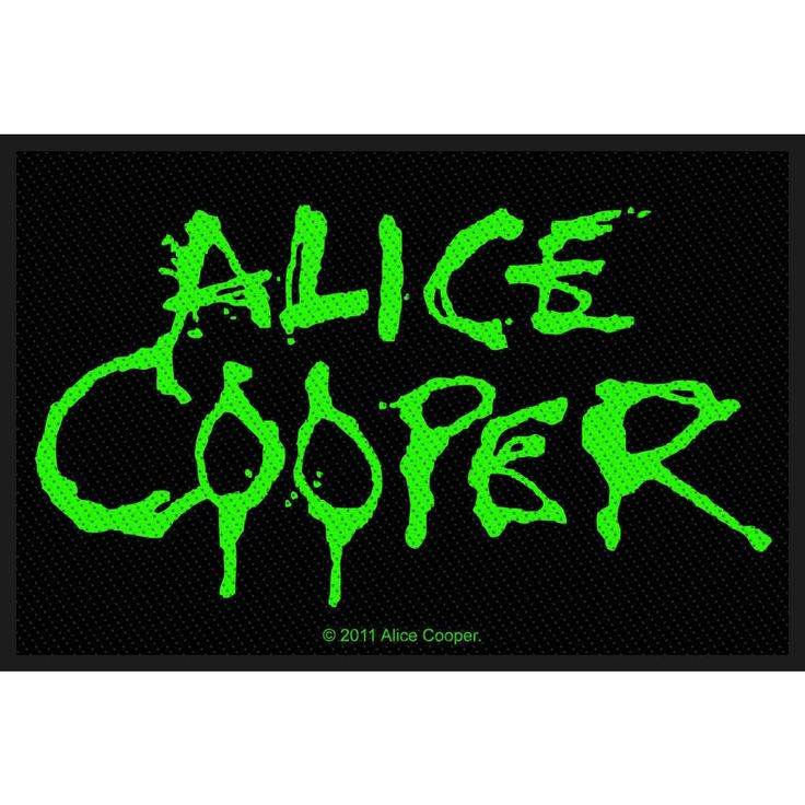 Toppa di #AliceCooper in tessuto da cucire con logo. Dimensioni: 10 x 6,5 cm circa. Materiale: 100% poliestere.