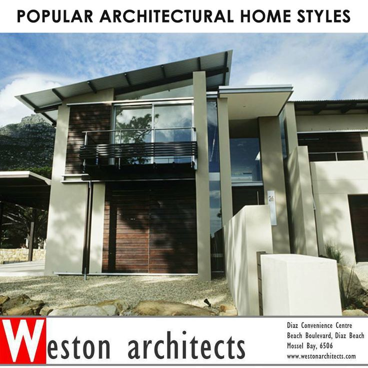 POPULAR ARCHITECTURAL HOME STYLES An architectural style is characterized by the features that make it notable. A style may include such elements as form, method of construction, materials, and regional character. For more click here: http://on.fb.me/MsJJ3J Speak to Weston Architects about your dream home. 082 413 3250 For more click here: http://bit.ly/1fSlftF Photo: DIY Network #architecture #architectures #building