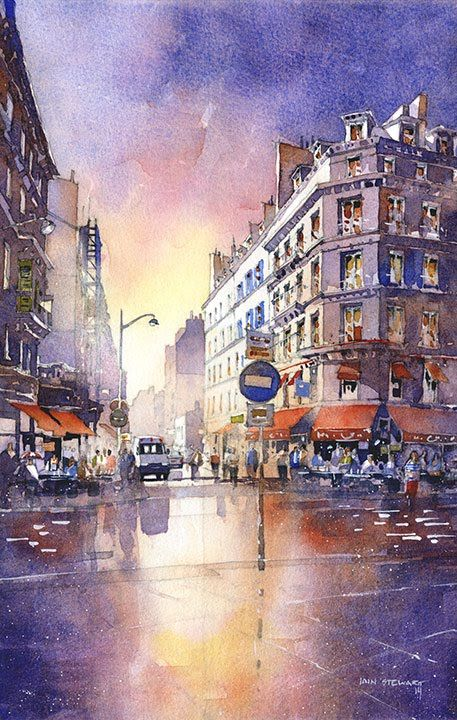 women free 3 0 v4 royal blue From Photos to Fantastic  Painting Watercolor Cityscapes