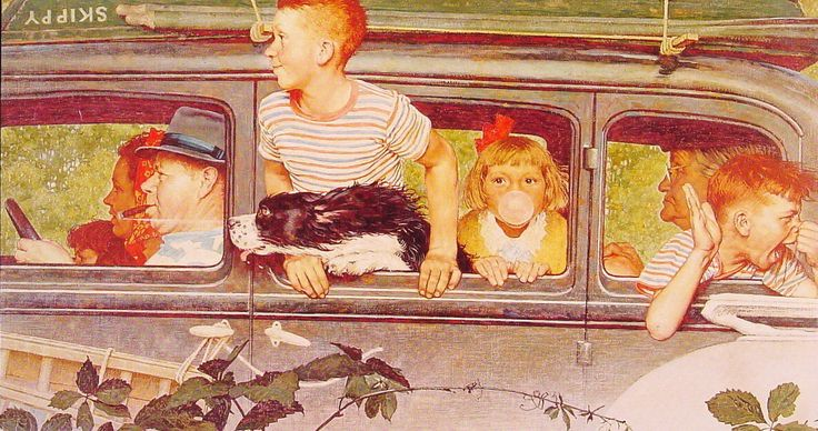 """Norman Rockwell """"GOING and Coming"""" (1947)"""