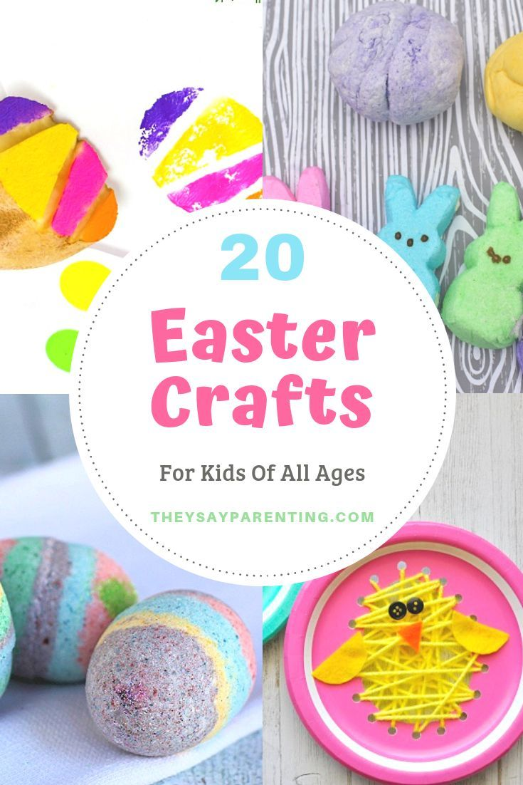 20 Fun And Easy Easter Crafts For Kids These Spring Crafts Are Fun For Kids Of All Ages You Will Find Sp Easter Crafts For Kids Easter Crafts Crafts For Kids