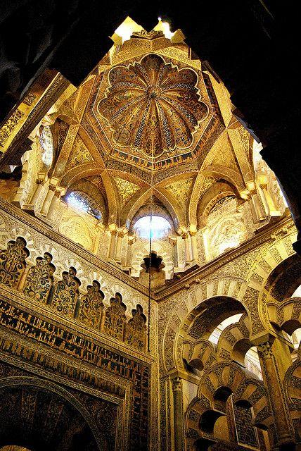Córdoba. Mezquita Interior Mihrab, Spain