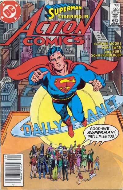Superman #583 cover by Ed Hannigan, Curt Swan and Murphy Anderson
