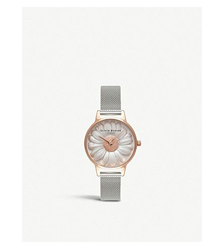 OLIVIA BURTON 3D Daisy rose-gold and silver watch. #oliviaburton #
