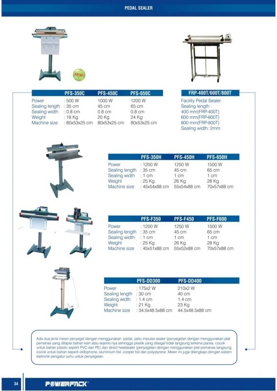 Aneka Pedal Sealer: Aneka Mesin Pengemas Sistem Pedal | Pedal Sealer