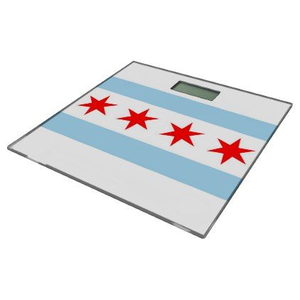 Bathroom Scale with flag of Chicago Illinois USA - elegant gifts gift ideas custom presents